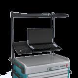 Portique avec étagère informatique