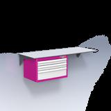 Bloc tiroirs à rideau