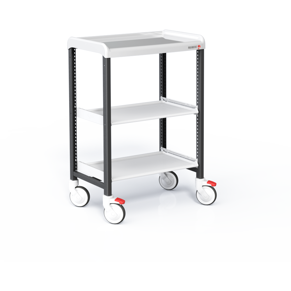 Trolley with 3 shelves