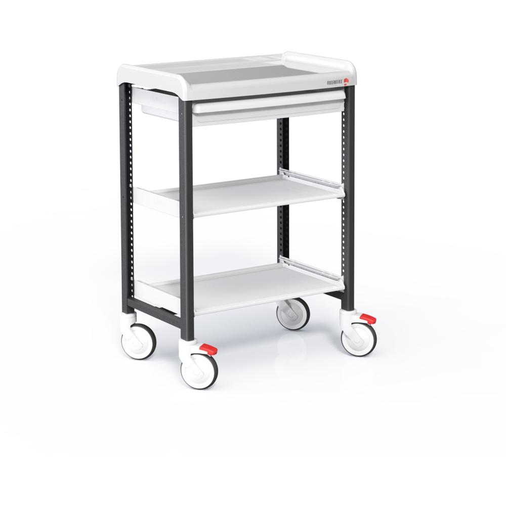 Trolley with 3 shelves and 1 drawer 75