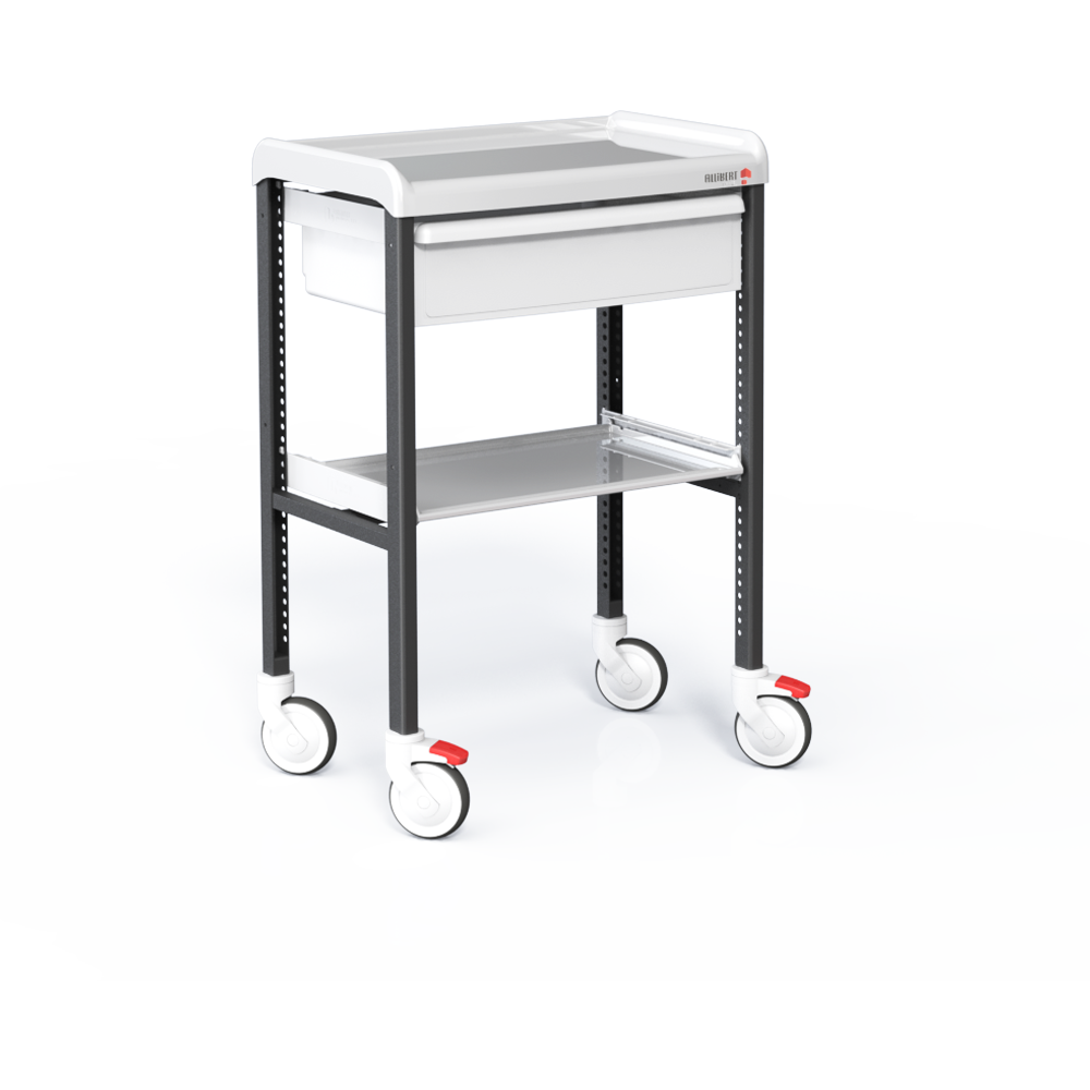 Trolley with 2 shelves and 1 drawer 155