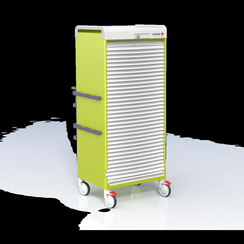 Armoire mobile basse F0600 15G et rails - Serrure LS100