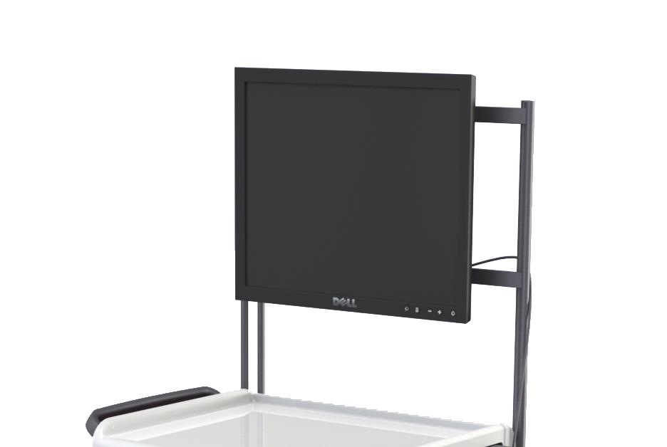Suspension d'écran sur portique avec platine